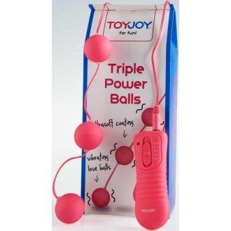 Triple Power Pembe Güçlü Titreşimli Anal Vajinal Zevk Topları