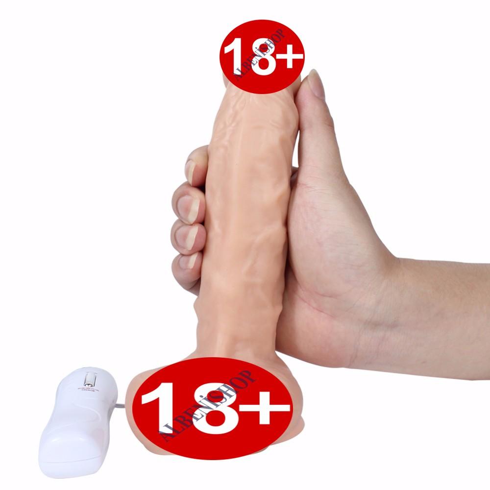 Dan 20 Cm Ultra Yumuşak Dönebilen Titreşimli Realistik Penis Dildo