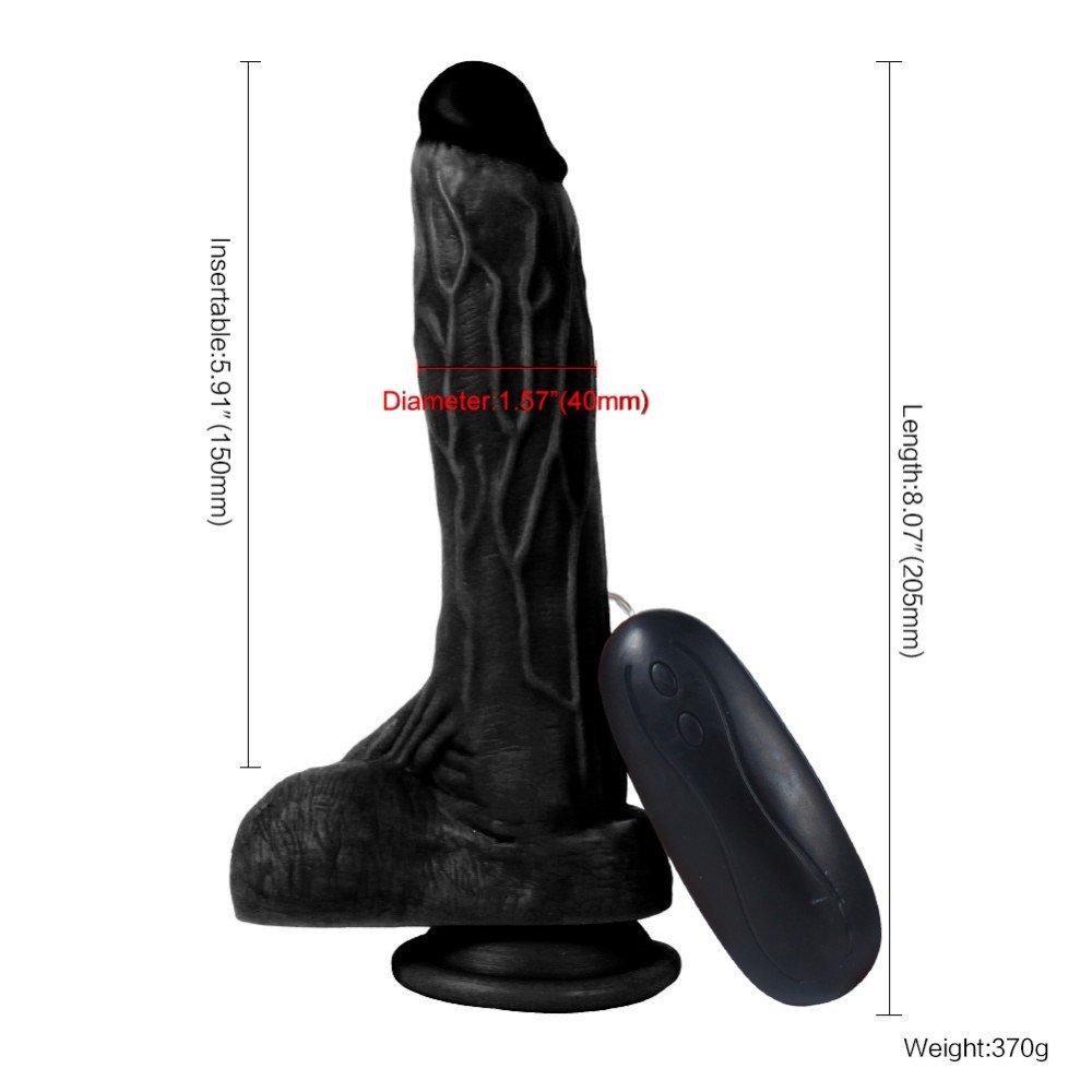 Dildo Series Siyah Dragon 21 Cm Titreşimli Belden Bağlamalı Realistik Penis