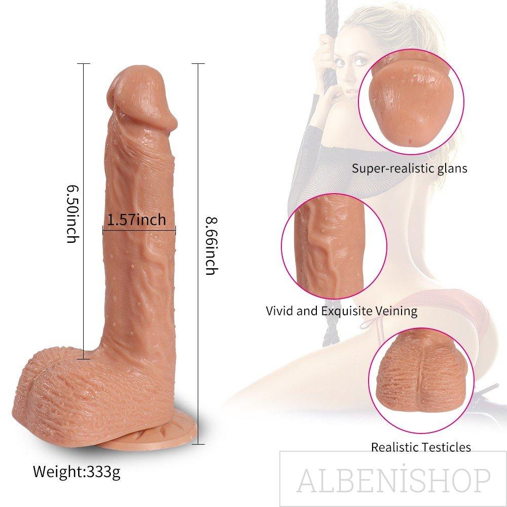 Hill Telescopic 21 cm Gidip Gelmeli Usb ile Şarj edilebilir Realistik Penis